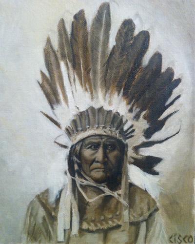 Geronimo - Oil on board