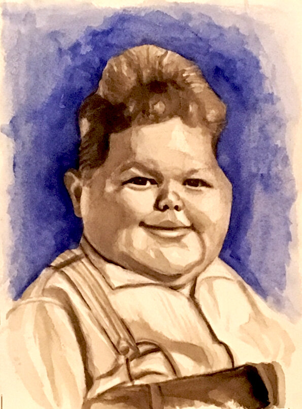 """Norman """"Chubby"""" Chaney - Little Rascals - Watercolor"""