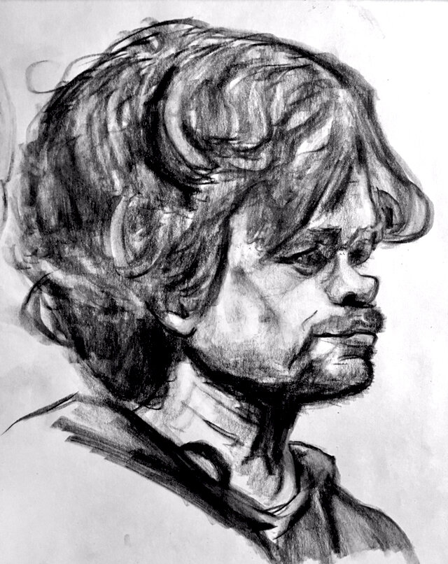 """Peter Dinklage - """"Tyrion Lannister"""" - Pencil Sketch"""