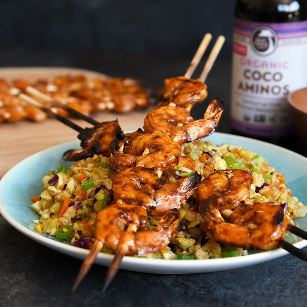 Soy-Free Teriyaki Shrimp