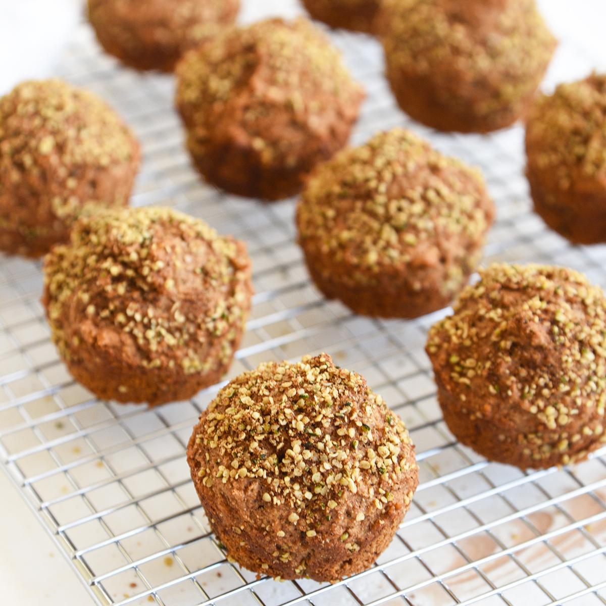 Cinnamon Maple Hemp Muffins