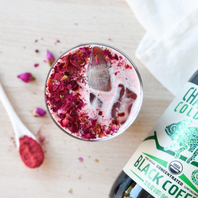Iced Rose Adaptogen Latte Recipe