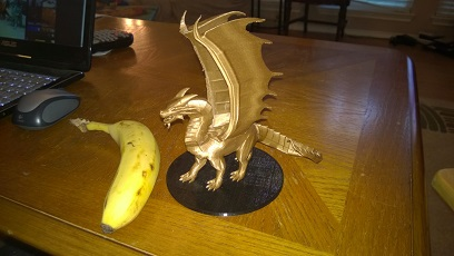 Copper dragon with banana for scale.