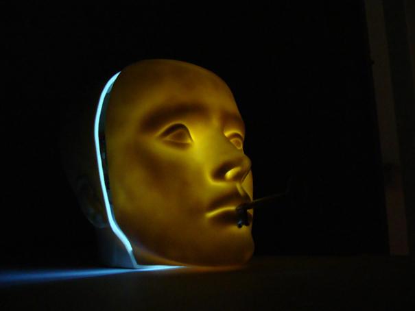 LOCKED MEMORIES   Audio visual sculpture, 2009