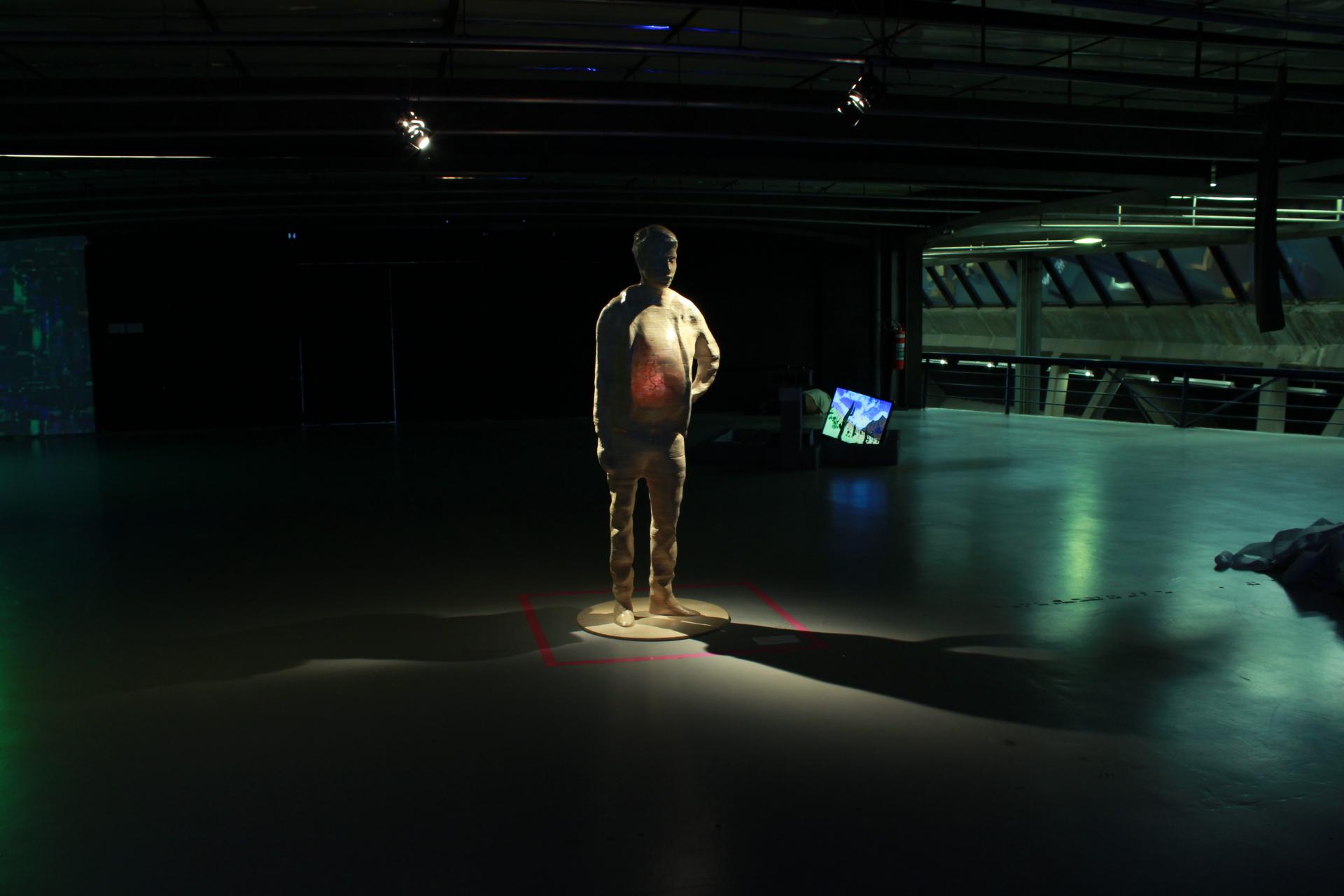 PREGNANT MAN   Video Sculpture, 2017