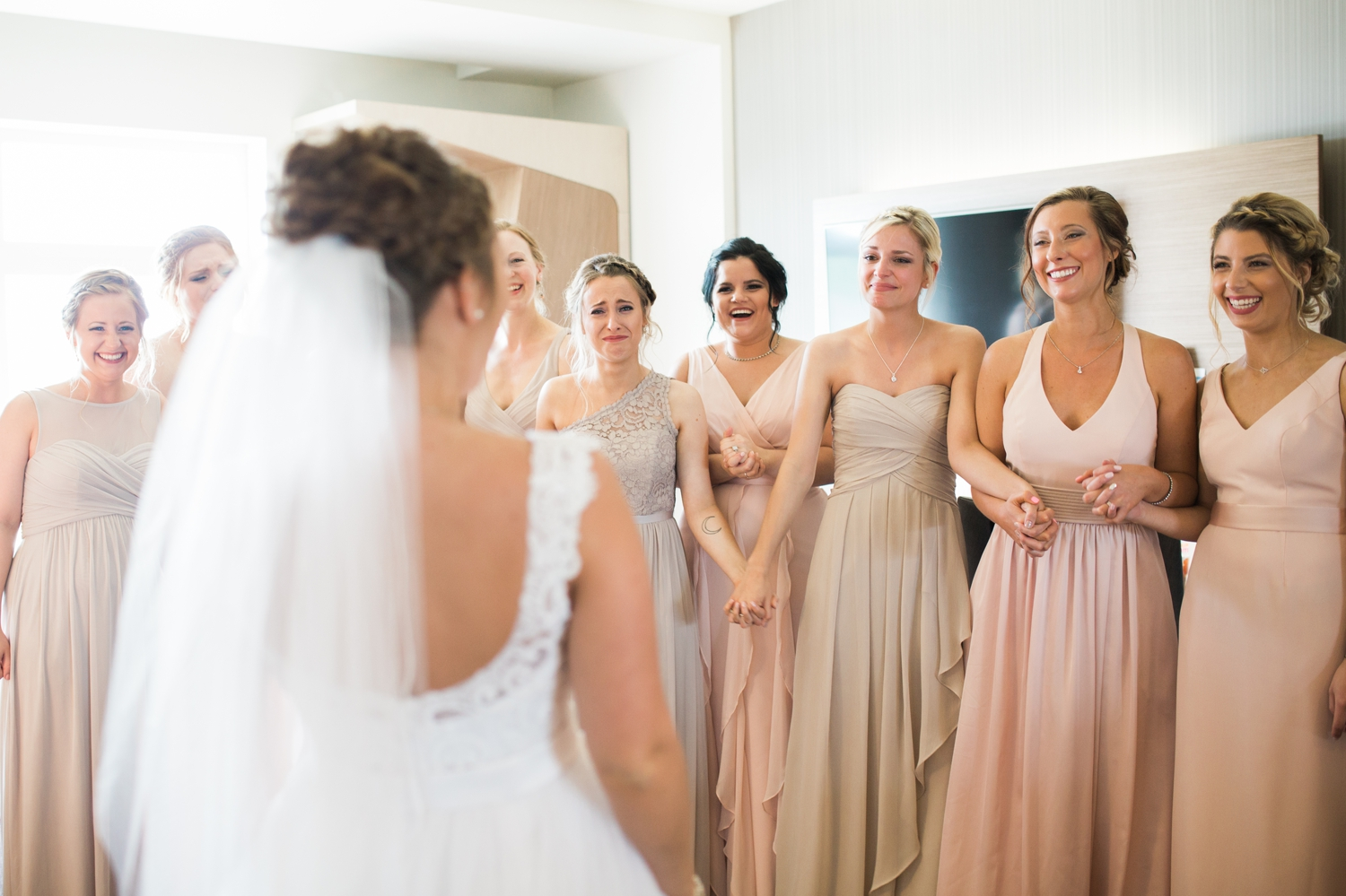 """Erin wanted to do a """"first look"""" with all of her girls. Their reaction was just the best. You can just tell her beauty just left them speechless or in tears!"""