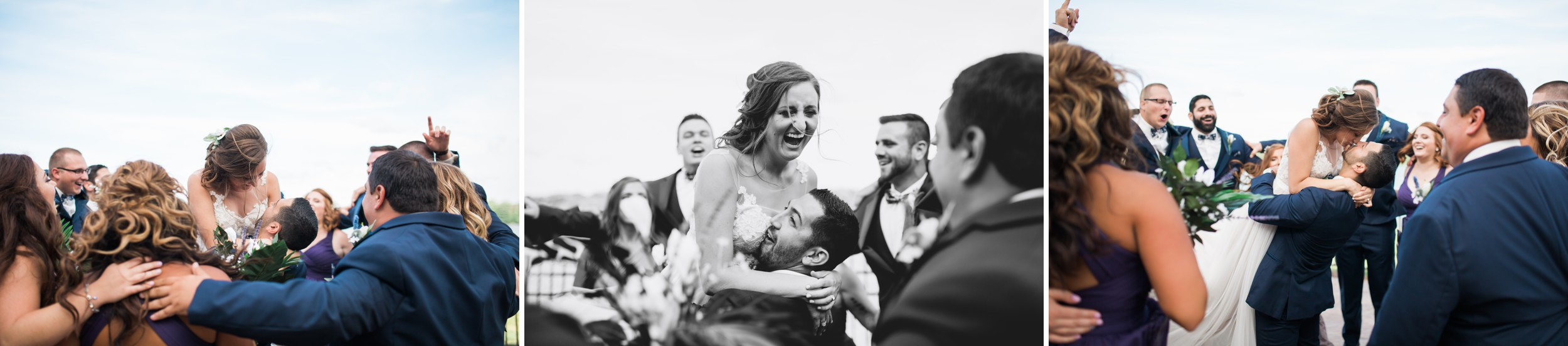 Now this is a bridal party that knows how to have fun.