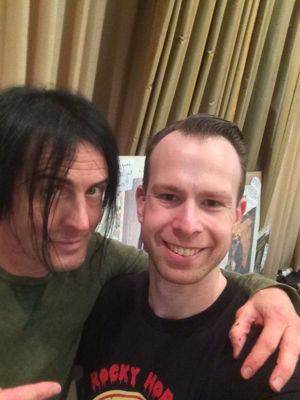"At the Mad Monster Party Convention in North Carolina,  Nivek Ogre from the industrial band Skinny Puppy, (or possibly as Pavi Largo from ""Repo: The Genetic Opera"") spoke on camera for us"