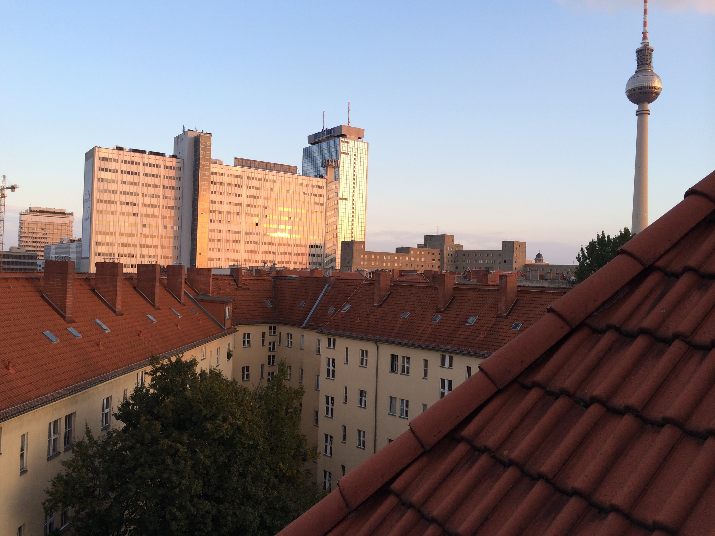 The view from Shawn and Paulie's hostel room in Berlin (thanks for Max for the hook up)