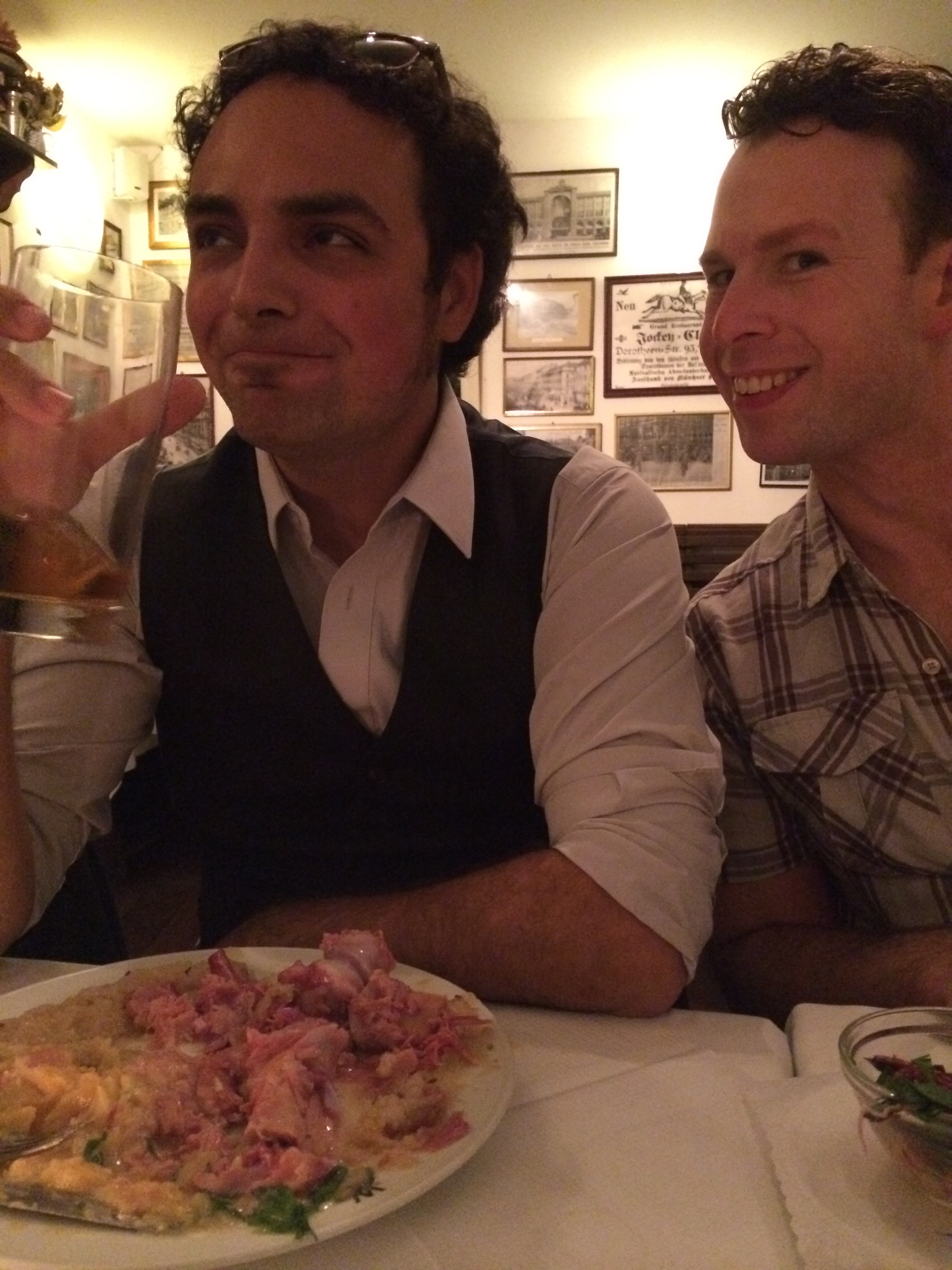 Paulie and Shawn getting fueled up during the unofficial trip to Berlin