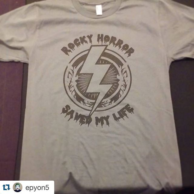 *EXCLUSIVE* East coast premiere of #RHSML shirts are here! Only today and limited supply! We are next to @epyon5 and #PeopleLikeUs in the Crystal Ball Room. We also have some pins, magnets, postcards and Roxy shirts #rhps40 #rhps #rockyhororr #rockyhorrordoc