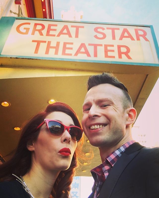 Almost time for our screening with @sfindiefest #docfest out in #SanFrancisco with our director, Shawn, and co-producer @lauracafoos 📽🎞🎉 #rhsml #rhps #bayarea #rockyhorror #filmfestival