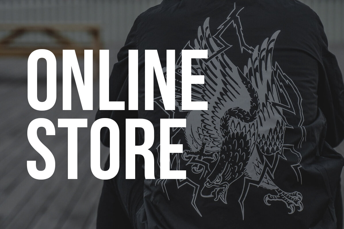 If you can't visit us at the shop, visit our online store to pick up limited run t-shirts, prints, stickers, badges and more.