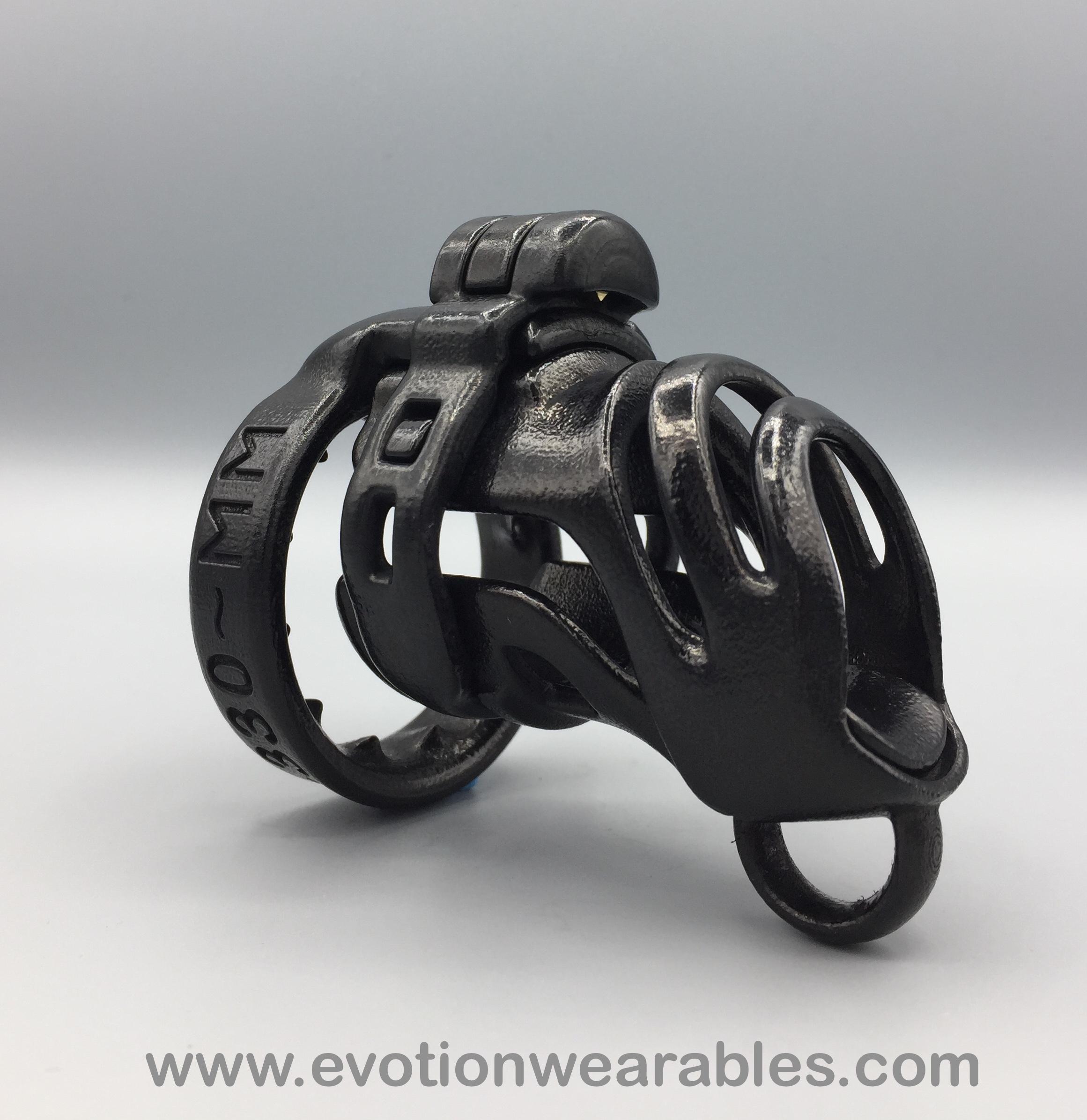 Black C8 serial lettering leash loop spiked ring.jpeg