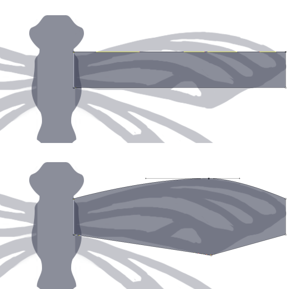 Creating a vector dragonfly - Creating the wings | louisagallie.com