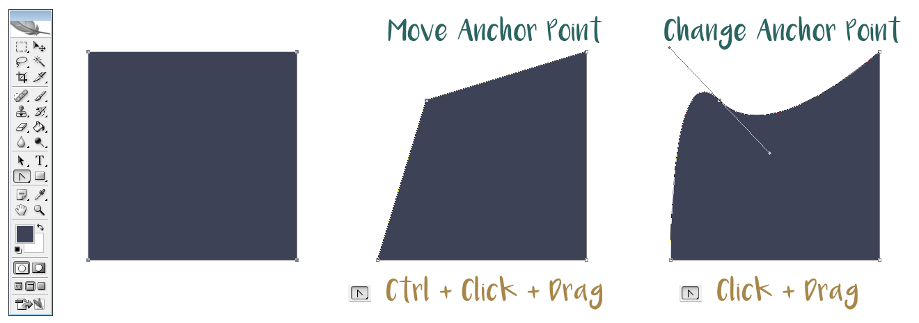 Editing a shape's anchor points in Photoshop | louisagallie.com