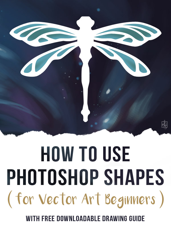 Read my beginner's guide to using Photoshop's vector Shape tools and create a custom Dragonfly vector shape!  I'll show you around the Shape interface, the Custom Shape palette, and teach you how to create, modify and save your own vector shapes. And I'll throw in some best practices and the tips and shortcuts I've learned along the way!I've even included a free downloadable so you can follow the main exercise with me I louisagallie.com