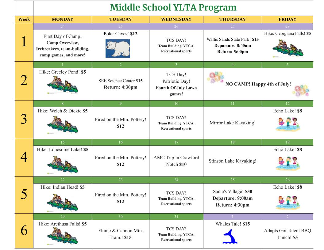 Middle School YLTA Program