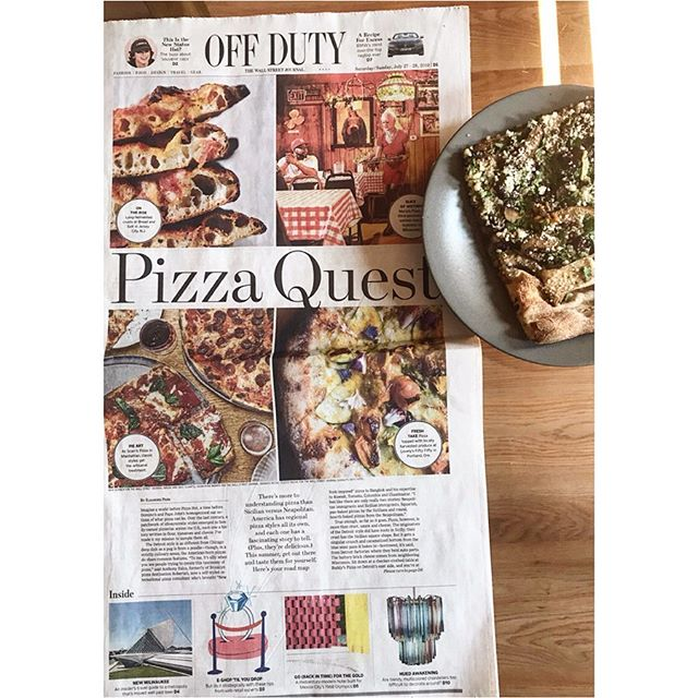 @bethkracklauer and I have eaten a lot of pizza over the last four months to bring you 3 (THREE) pages out in print this weekend dedicated to the humble pie across America and a new vanguard of pizza makers who are changing the grain game. There's video, AUGMENTED REALITY PIZZA in the @wsj app and so many beautiful photos. So proud of our pizza village including @haleyavelasco @allisongumbel @fmrphoto and all the contributing writers 🍕❤️🍕❤️. Cover 📸s by: @nschinco @extracelestial @adamryanmorris feat. @breadandsaltbakery @scarrspizza @sarahminnick_ and Maria's Pizza in Milwaukee. Also pictured as part of my pizza journey: Totonno's in Coney Island, Zuppardi's and Sally's Apizza in New Haven, Sarcone's Bakery in Philadelphia, and Zaffiro's in Milwaukee. LIB ⬆️ #pizza 🍕