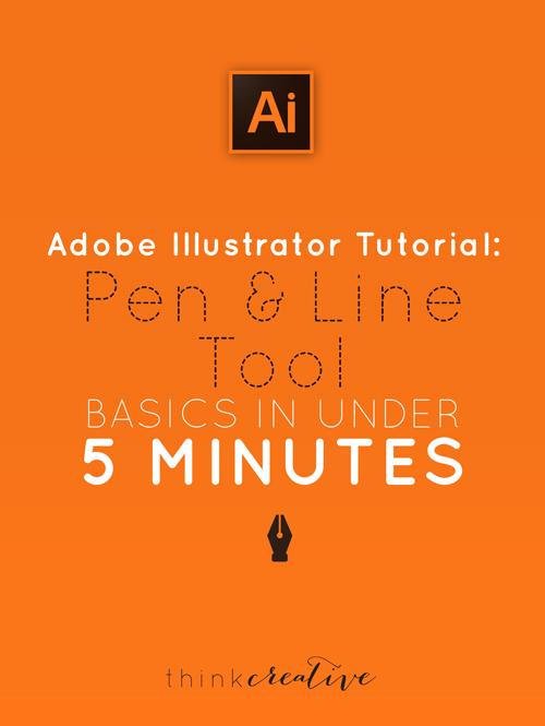 Adobe Illustrator Tutorial: Pen & Line Tool Basics in Under 5 Minutes     Think Creative