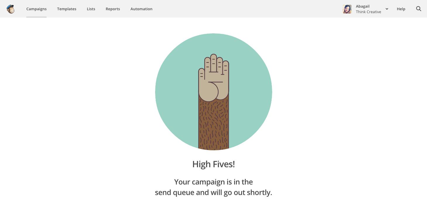MailChimp 101 - High Five  |  Think Creative
