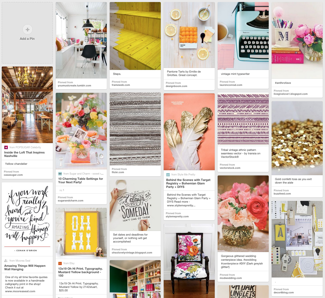 Think Creative Brand Inspiration Mood Board