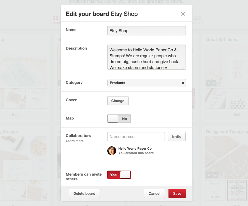 Add Pinterest Board descriptions for simple SEO tricks.  |  Think Creative