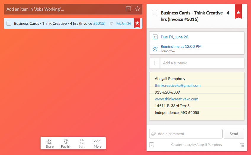 Using Wunderlist for Project Management - Think Creative