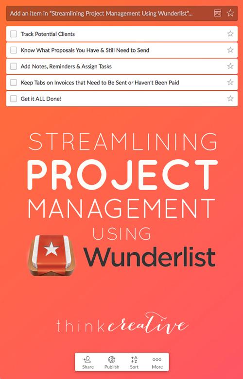 Streamlining Project Management Using Wunderlist