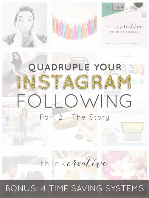 Quadruple Your Instagram Following: Part 2 – The Story (BONUS: 4 Time Saving Systems)