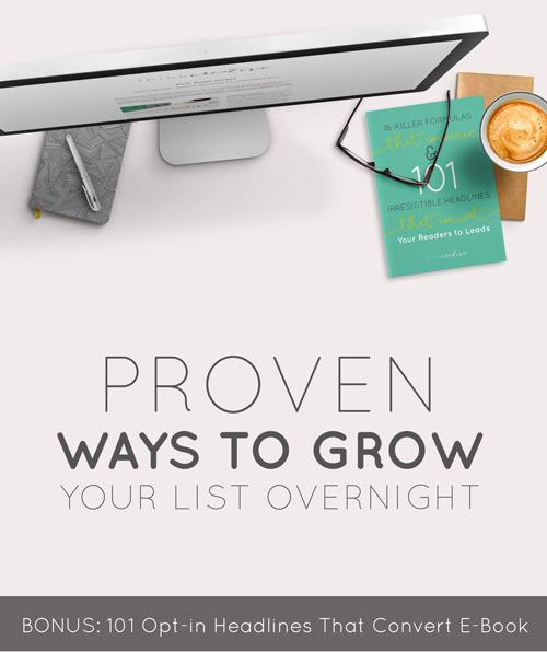 Proven Ways to Grow Your List Overnight (BONUS: 101 Opt-in Headlines that Convert E-Book)