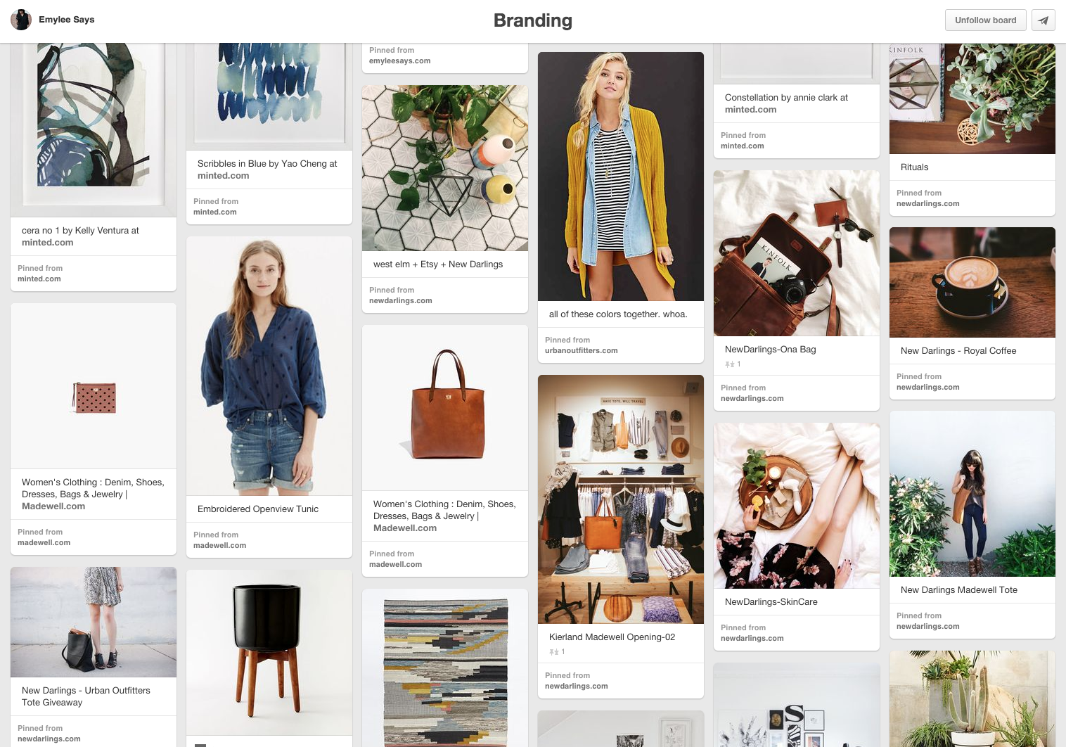 Emylee Williams Pinterest Brand Board  |  Think Creative