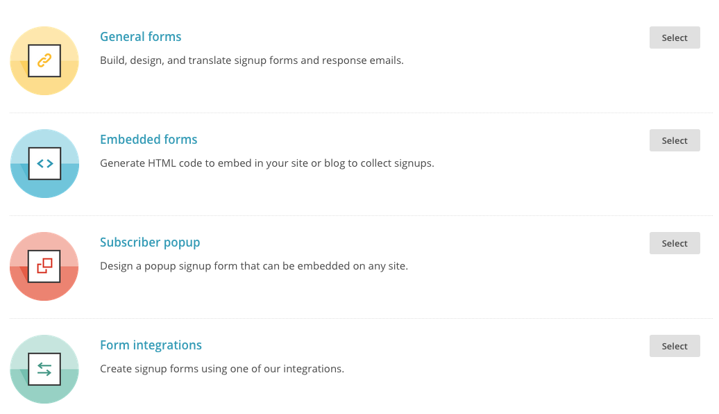 "The easiest place to start will be ""General Forms"". Hit select to go to the next step."