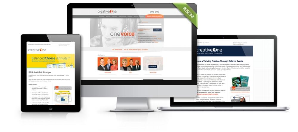 Website Re-Skin & Email Marketing