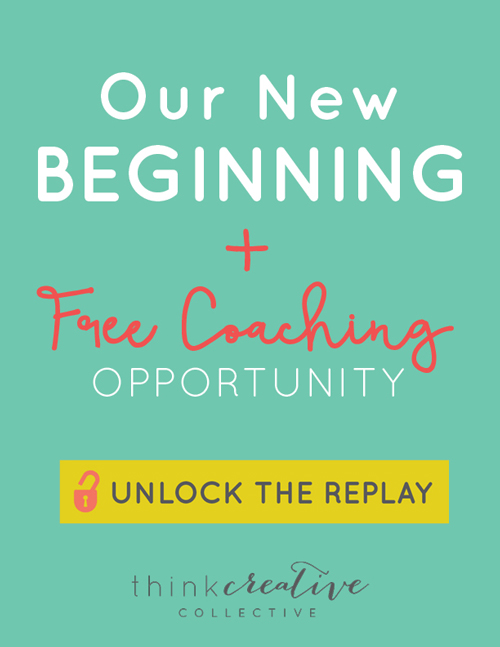 We just made a HUGE announcement!! And it includes some awesome opportunities, including access to free group coaching!  |  Think Creative Collective