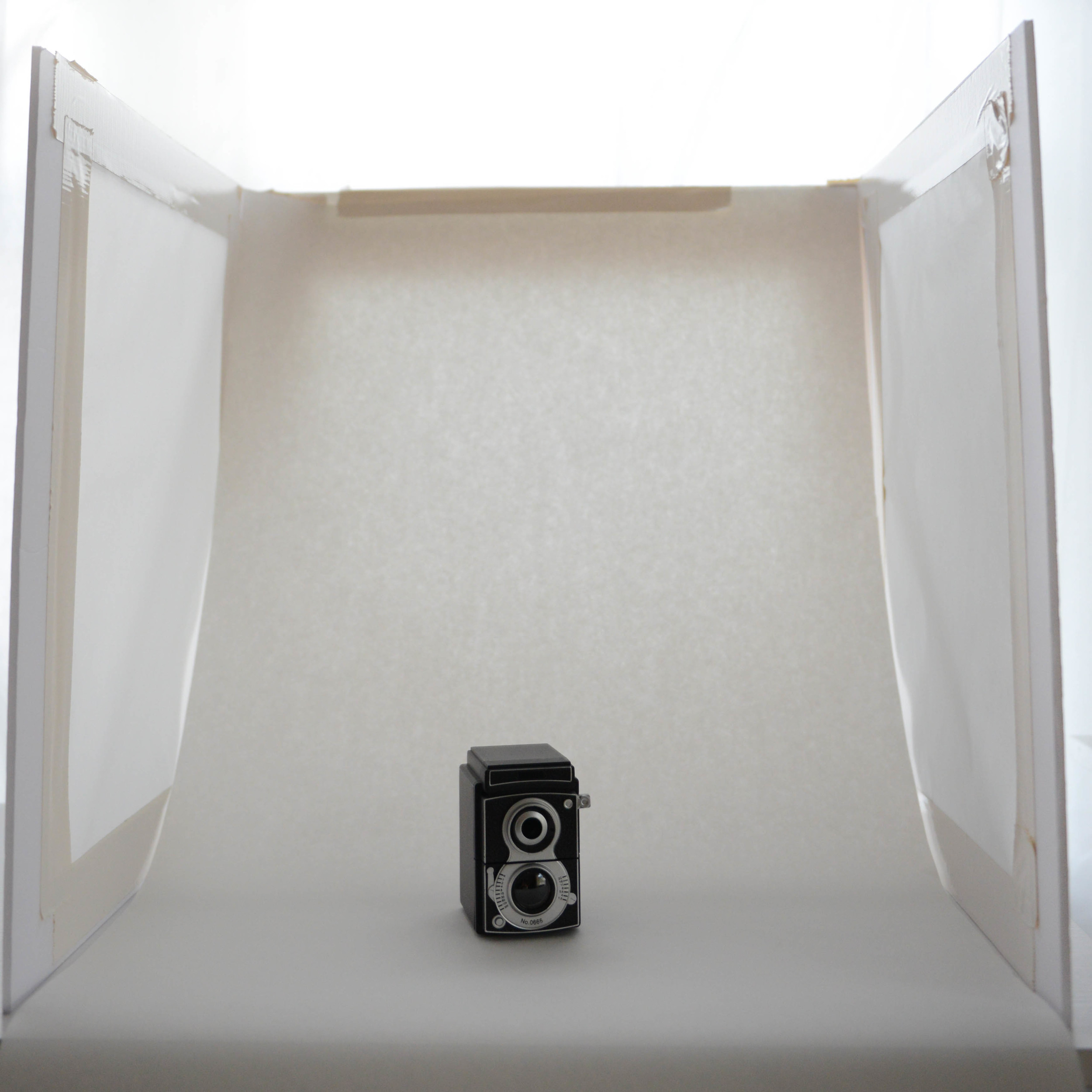 """The """"before"""" of an easy at home setup of a lightbox diffuser. Read more at www.thinkcreativecollective.com"""