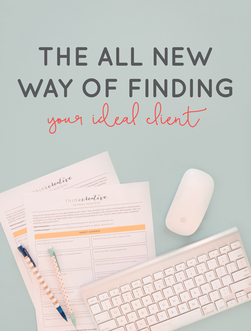 Not feeling like you know your client well enough? It's probably because you're using outdated ways to target your audience. BONUS: free Finding Your Muse download | Think Creative Collective