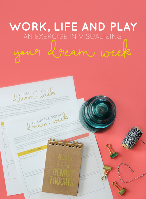 Struggling to give yourself recognition for the little things? FREE exercise printable in visualizing your dream week.   Think Creative Collective
