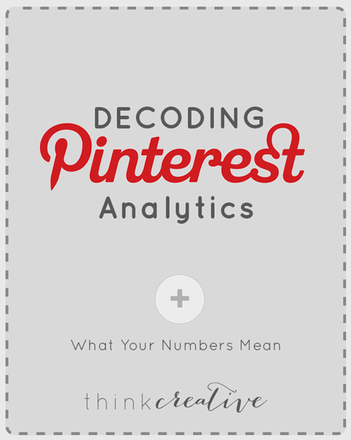 Understand how to use Pinterest Analytics. See how Pinterest works for you. Know what people love about your profile and website. See what they engage in and dive into how to learn more about your audience.  |  Think Creative Collective