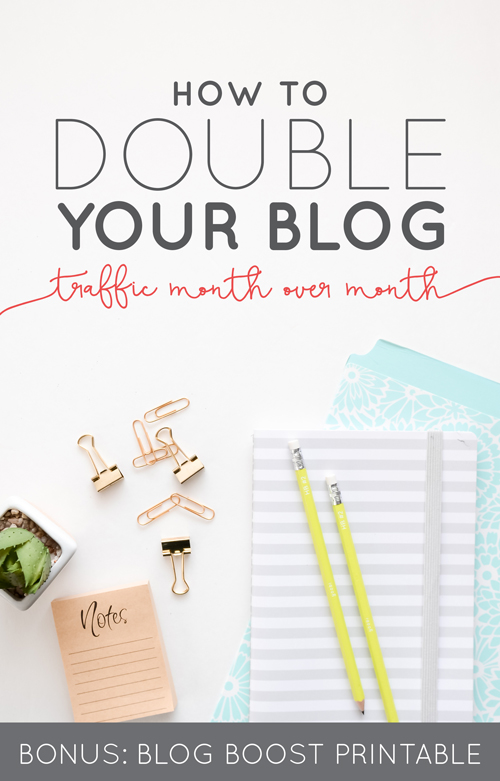How to Double Your Blog Traffic Month Over Month (BONUS: Blogging Boost Printable)  |  Think Creative Collective