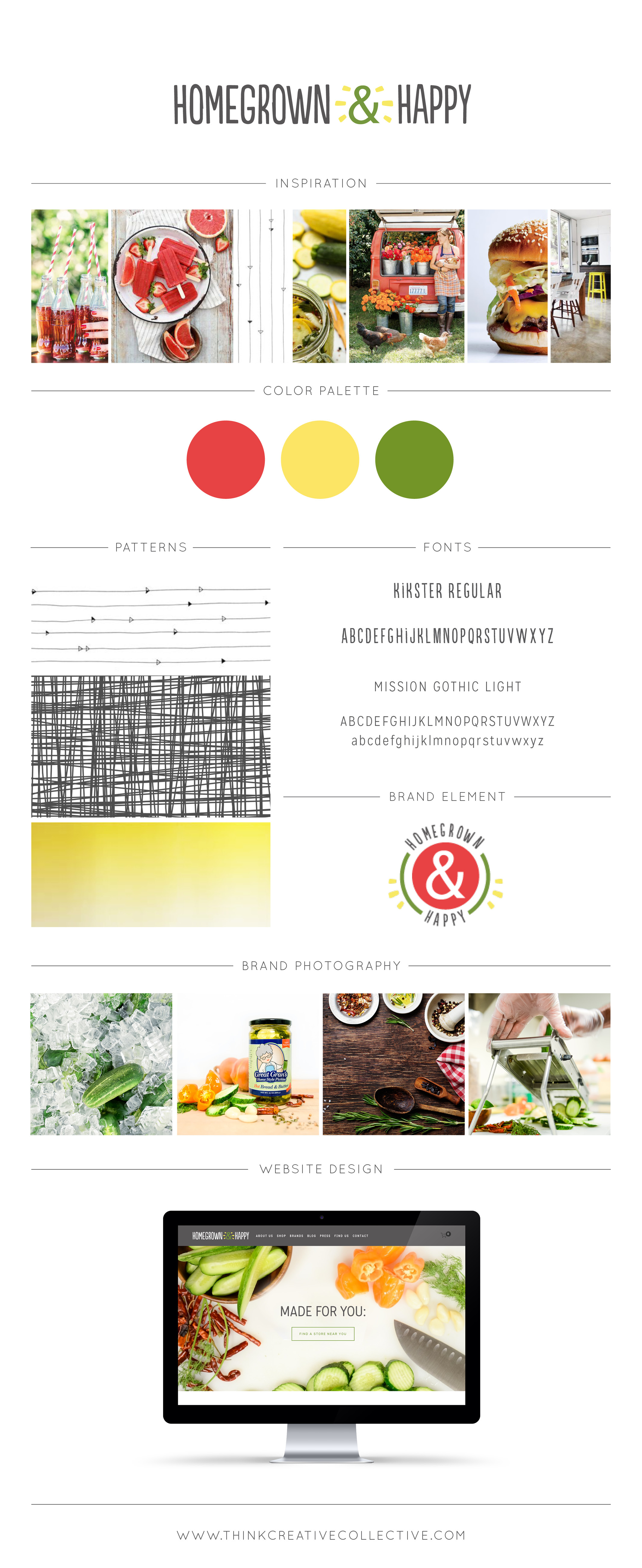 Homegrown & Happy Brand Style Board  |  Think Creative Collective