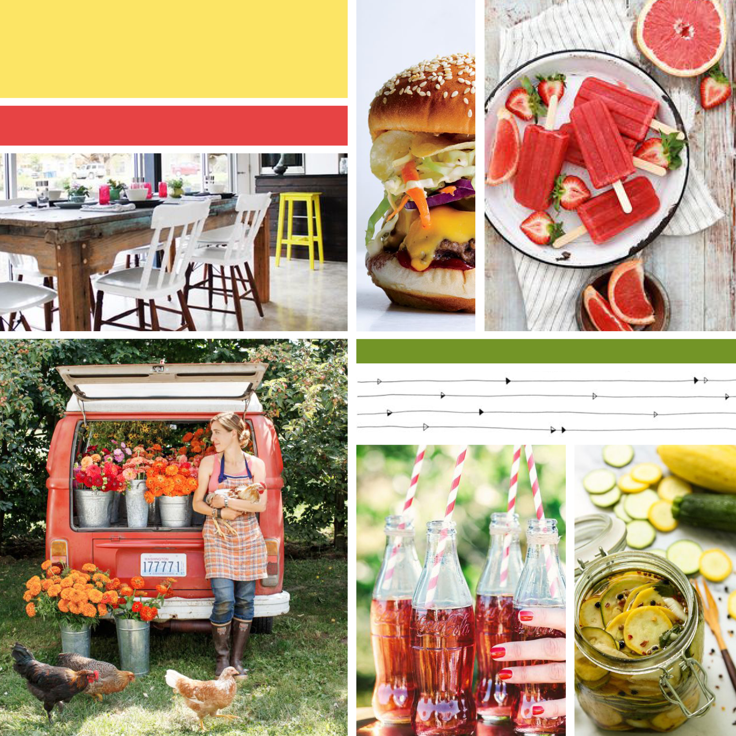 Homegrown & Happy  |  Inspiration Board  |  Think Creative Collective