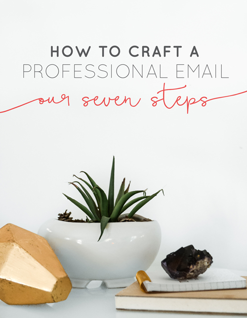 It's hard in the creative world to know where or how some professional lines lay. It's nice because we get to make a lot of our own rules, but there are still some places where old school rules. Writing emails is still one of those areas that can set you off on the right foot or get you sent to someone's spam. Here are our 7 steps to crafting the perfect, professional email.   |  Think Creative Collective