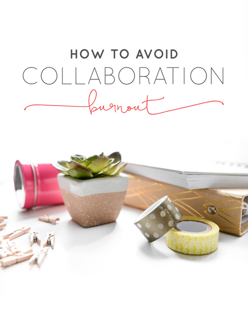 "It seems like we're hearing how important collaboration is for businesses every day. Heck, we even preach collaboration in our own tribe and community a lot. But it also seems like we don't hear anything about taking collaboration breaks. Or more importantly, how to avoid a collaboration burnout.  It's so easy to fall down what we call the ""collaboration rabbit hole"". You put some feelers out there to work with others (maybe it's for giveaways, guest posting, or a joint webinar) and you find people you love. Then you find some more. Then you find yourself saying ""yes"" to #AllTheCollabs and it feels great! 