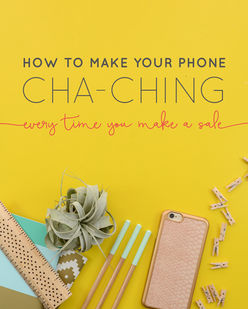 """If you hang out in Etsy-seller groups for any amount of time, you'll hear them talk about """"the cha-ching"""" when they make a sale. They essentially have the notification sound from the Etsy app on their device ring like a cash register every time they make a sale. But what about the rest of us? The non-Etsians: the course creators, the amazon sellers, the ebay-ers, the teachable teachers, the Shopify or WooCommerce sellers, etc? Why can't we have the cha-ching!?! Well, pumpkin, don't yell - you can totally have the cha-ching. 