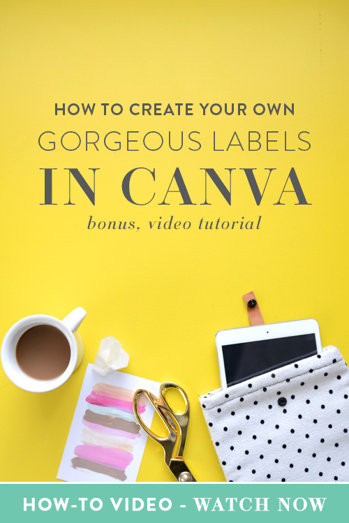 Guest Post by Nicholette von Reiche, Nicholette Styles  If you're anything like me, you not only own a label maker but you also find any excuse to use it and get excited about organizing things by category whenever possible.   Before styling visuals for femmepreneurs using Canva, I was a home and food stylist. I love it when things have structure and order. I love it when everything has a home and is easy to find. I also love it when I can add my own personal touch whether it be in my business or home. That's exactly why I started creating my own labels so that I could create what I needed in the colors I loved on a whim. | Think Creative Collective