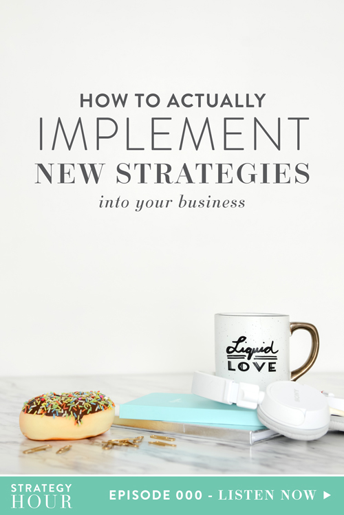 Welcome to our very first episode of The Strategy Hour a podcast for creative entrepreneurs who are tired of the fluff and ready for on-the-go strategy. In this episode you'll not only get a (very) quick introduction of Abagail Pumphrey and Emylee Williams (your hosts), but you'll also walk away with some action steps. You'll find very quickly that every episode is going to be full of in-depth strategy that you can walk away with and apply to your business right away.  |  The Strategy Hour Podcast  |  From Think Creative Collective