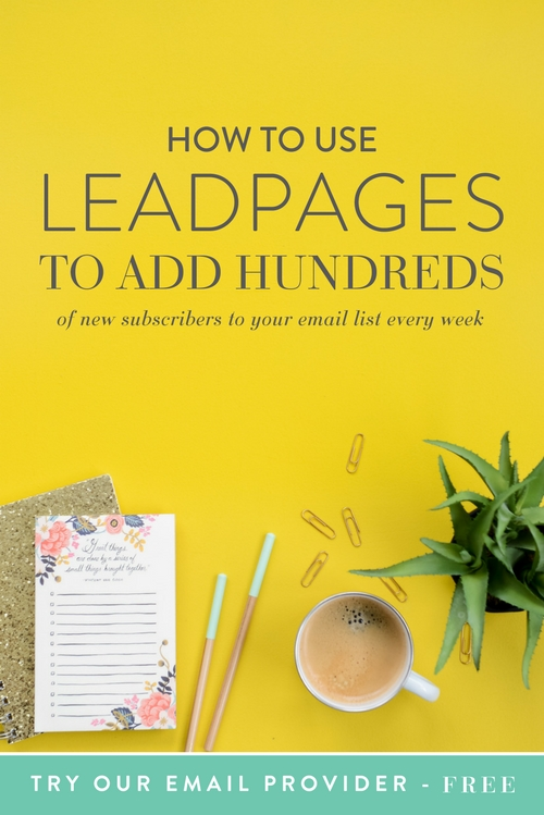 Looking back on our investments over time, we actually purchased Leadpages long before we even started paying for an email service provider. For some that may seem goofy, but for us it was strategic. With the power of Leadpages we have been able to grow our list by thousands and it didn't take any technical knowledge to make it happen.  Before I jump into how to set up my favorite aspect of Leadpages, let me first tell you about the different options available to you right out of the box.  |  Think Creative Collective
