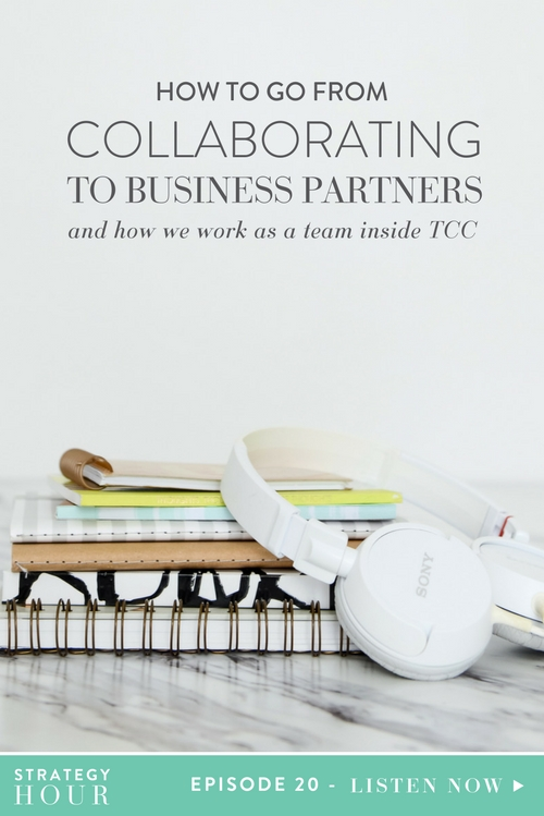 As a two woman team, we get a lot of questions about how we make a partnership work. We always get asked how we met, how we work as a team inside TCC, and what gave us the idea to make the leap from collaborators to business partners. We know it's not necessarily super common, but it seems like everyone is always interested in seeing how this works. So we figured we would just share some of the actual tools and mindsets that we went through when we barely knew each other at first and started the business, like normal people do of course.     The Strategy Hour Podcast     Think Creative Collective