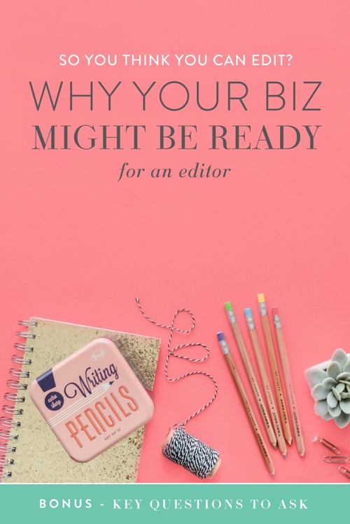 Hiring new consultants, contractors, and team members is a big step in your business, but once you're ready to take it your workload decreases and your business is able to improve in multiple ways, leaving you to work on your strengths and be the bad-ass lady boss you are (instead of the boss, chief bottle-washer and Jill-of-all-trades).  A blog editor may not have made the top of the list when you dreamed about bringing someone on to help you. But…  You only have twenty-six small letters and a handful of dots and dashes to wow, inspire, share, create, and convince. Surely you want to combine these in the best way possible?  |  Think Creative Collective